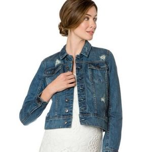 NWT  A PEA IN THE POD MATERNITY JEAN JACKET